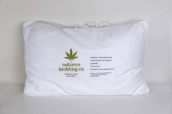 Natures Bedding Co Hemp Pillow - Standard Size
