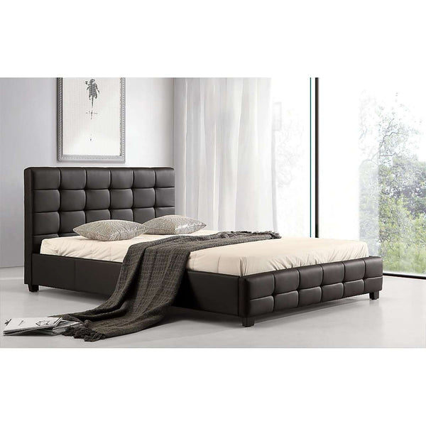 PU Leather Deluxe Bed Frame - 3 Colours-Bedframe-Palermo-King Single-Black-Big Bedding Australia