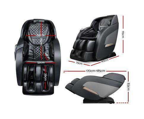 3D Electric Massage Chair Zero Gravity Recliner Shiatsu Back Heating Massager