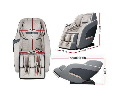 3D Electric Massage Chair Zero Gravity Recliner Shiatsu Kneading Back Massager