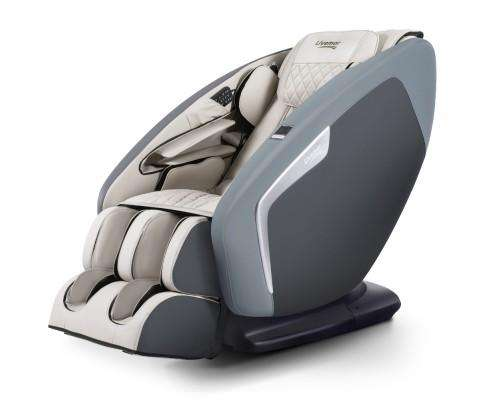 4D Electric Massage Chair Shiatsu SL Track Full Body 52 Air Bags Navy Grey