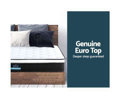 Giselle Bedding Euro Top & Bonnell Spring Foam 21cm Mattress - Medium