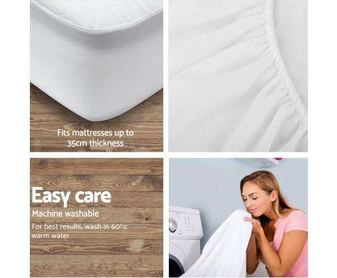 Giselle Bedding Waterproof Bamboo Mattress Protector