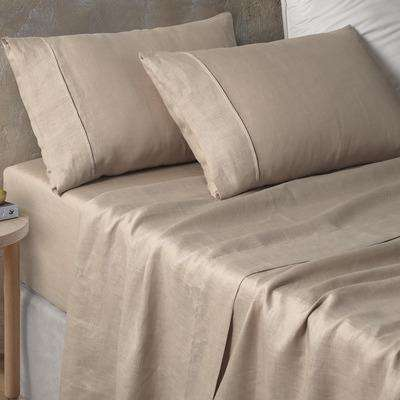 Vintage Design Natural Hemp Sheet Set