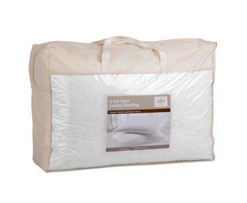 Set of 2 Goose Feather and Down Pillow - White