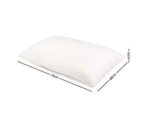 Giselle Bedding Set of 2 Single Bamboo Memory Foam Pillow