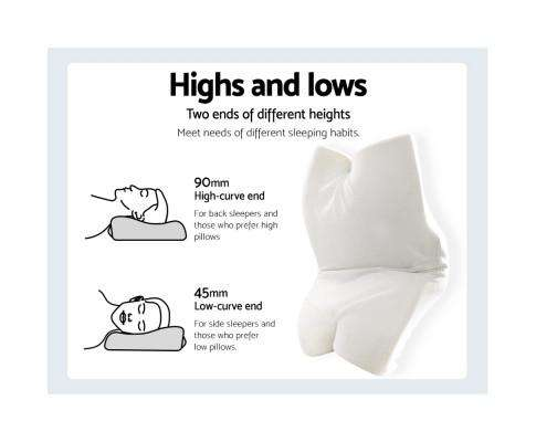Memory Foam Pillow Neck Pillows Contour Rebound Pain Relief Support