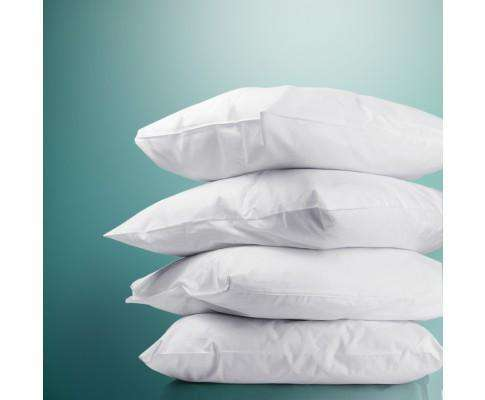 Set of 4 Medium & Firm Cotton Pillows