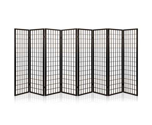 Artiss 8 Panel Room Divider Privacy Screen Dividers Stand Oriental Vintage - Black