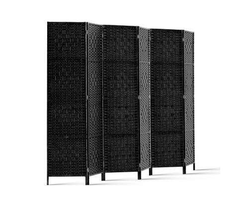 Artiss 6 Panel Foldable Wooden Room Divider - Black