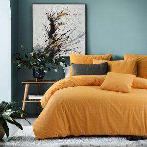 Amsons Raw Amber Quilt Cover Set