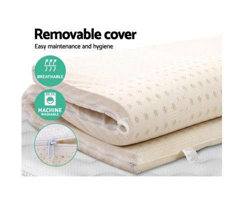 Giselle Bedding Pure Natural Latex Mattress Topper 7 Zone 5cm