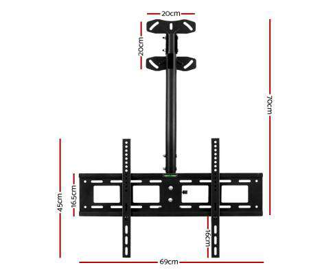 TV Wall Ceiling Mount Bracket Full Motion Tilt Swivel 32 42 50 55 60 65 70 75 inch