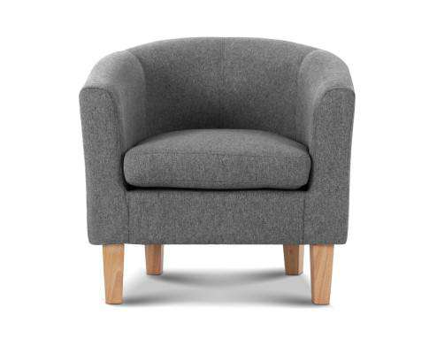 Abby Fabric Armchair - Grey