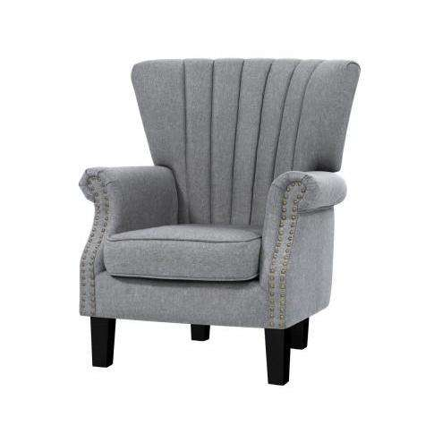Andrew Timeless Accent Chair  - 2 Colours-Accent Chair-Artiss-Grey-Big Bedding Australia