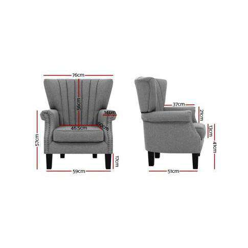 Andrew Timeless Accent Chair  - 2 Colours-Accent Chair-Artiss-Big Bedding Australia