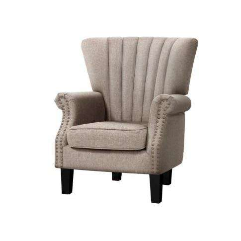 Andrew Timeless Accent Chair  - 2 Colours-Accent Chair-Artiss-Beige-Big Bedding Australia
