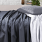 Amsons Charcoal Bedsheets Set- Flat & Fitted Sheets With Pillowcases