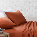 Amsons Rust Bedsheets Set- Flat & Fitted Sheets With Pillowcases