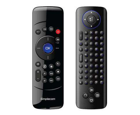 Simplecom RT200 Rechargeable 2.4G Wireless Remote Air Mouse and Keyboard Combo for PC Android TV Box