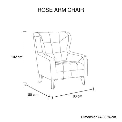 Rose Arm Chair Printing on Back