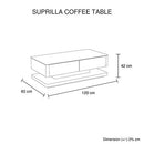Suprilla Coffee Table White Colour