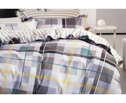 Luxton Cotton Rectangle Striped Quilt Cover Set