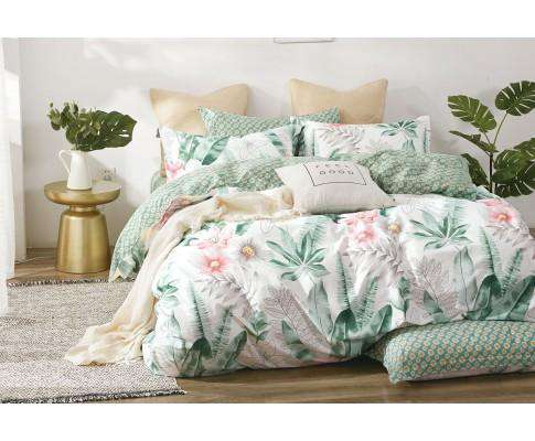 Luxton Cotton Floral Leaf Quilt Cover Set