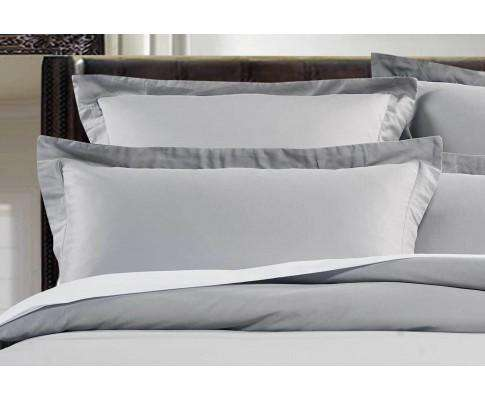 Luxton 500TC Cotton Sateen Quilt Cover Set (Silver Color)