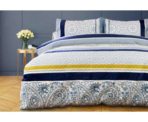 Luxton 2pcs Dessin Velvet Panel Embossed Quilt Cover Set