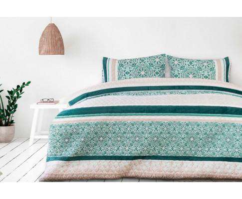 Luxton Spindle Velvet Panel Embossed Quilt Cover Set