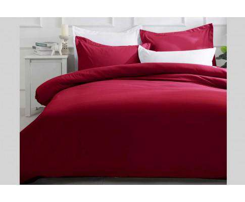 Luxton Burgundy Quilt Cover Set (3PCS)