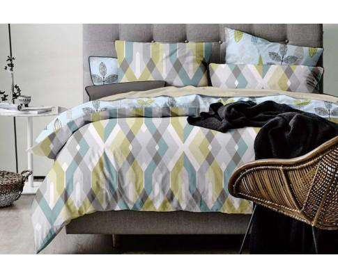 Luxton Reversible Zig Zag Quilt Cover Set