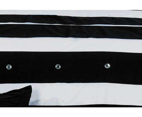 Luxton Black White Striped Quilt Cover Set(3PCS)