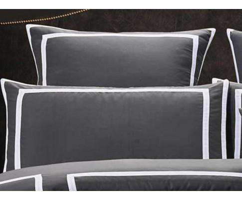Luxton Charcoal and White Quilt Cover Set