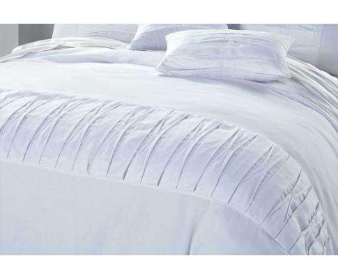 Luxton White Pintuck Quilt Cover Set