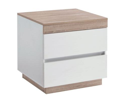 Ashley Coastal White Wooden Bedside Table with Drawers Cabinet