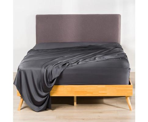 100% Organic Bamboo Fitted Sheet Set A Charcoal