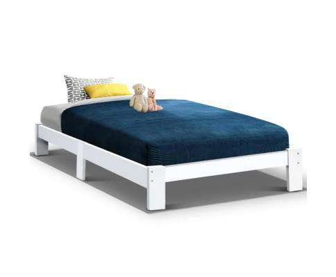 Artiss Woodenl Bed Base - White
