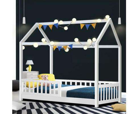 Wooden White Rock Kids Bedframe