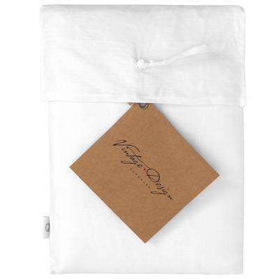 Vintage Design White Hemp Sheet Set