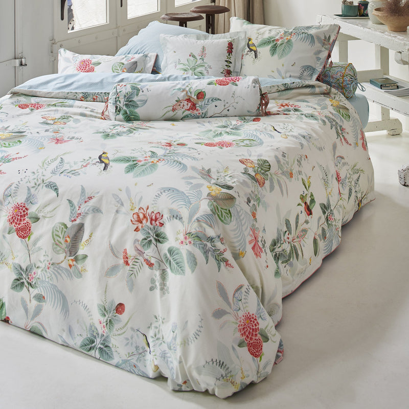 Pip Studio Floris White Quilt Cover Set