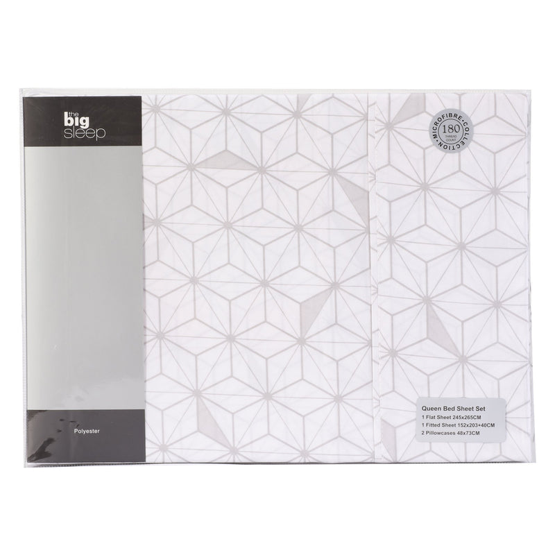 The Big Sleep Cubis White & Silver Sheet Set
