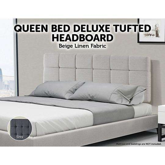 Tuft Fabric Linen Bedhead - 2 Colours-Bedhead-Palermo-Big Bedding Australia