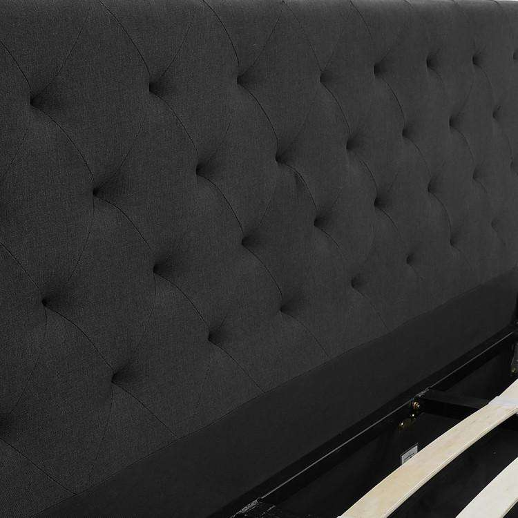 GAS LIFT BED FRAME WITH HEADBOARD - BLACK