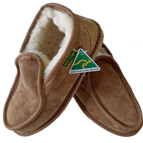 Merino Craft Ben Slipper - Chestnut-UGG-Merino Craft-Big Bedding Australia