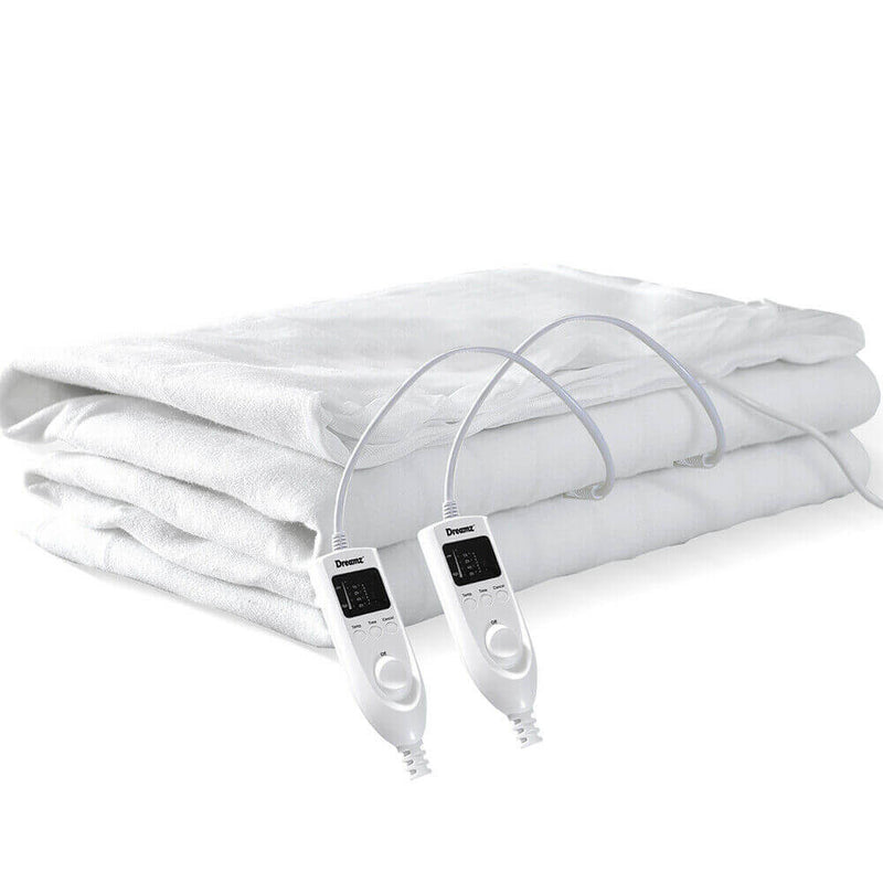2x  450 GSM Polyster Electric Blanket Heat Warm Winter Fitted King Size