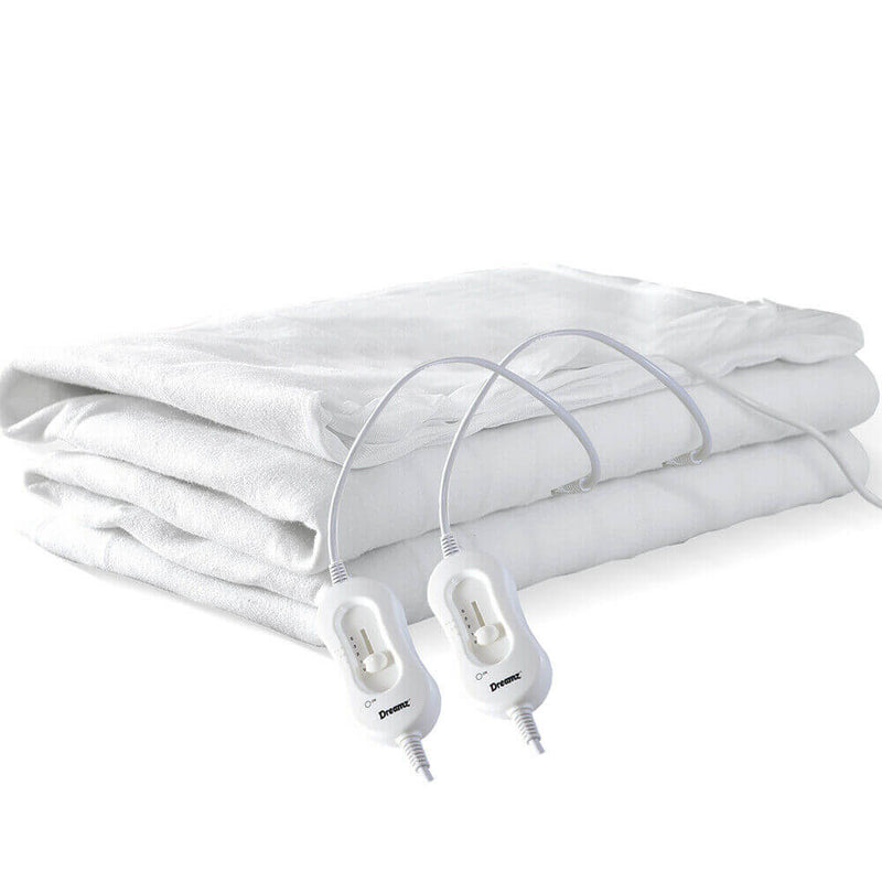2x  450 GSM Polyster Electric Blanket Heat Warm Winter Fitted Queen Size