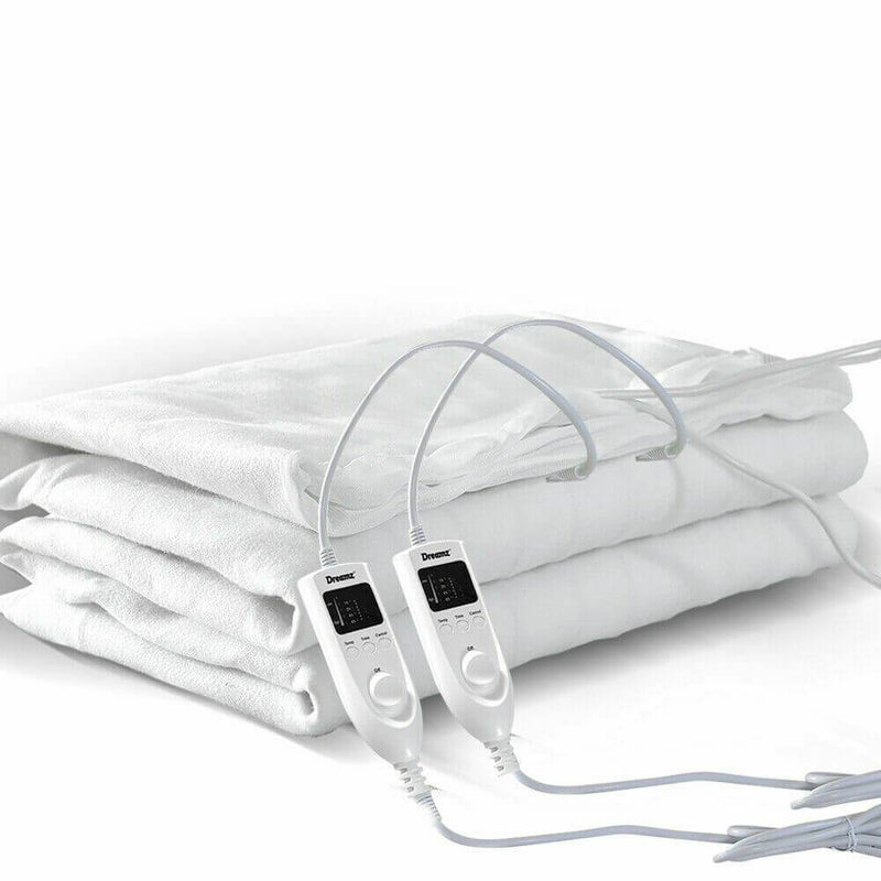 2x  450 GSM Polyster Electric Blanket Heat Warm Winter Fitted Single Size