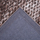 Modern Geometric Brown Textured Super Soft Microfiber Floor Rug Modern Weave- Rugaustralia